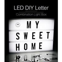 DIY Letter Light Box Room Decoration Romantic Girl INS Style LED Light Box for Proposal Wedding supplies Creative Night Light
