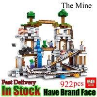 Lepin Minecraft 922Pcs The Mine My World Figure Kids Educational Building Blocks Bricks Toys For Children