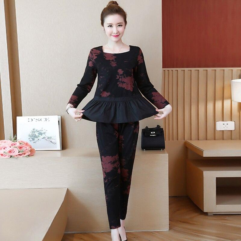 YICIYA volants 2 pièces ensemble survêtements pour femmes tenue sportswear co-ord ensemble grande taille 4xl 5xl gros vêtements noir elégant - 3