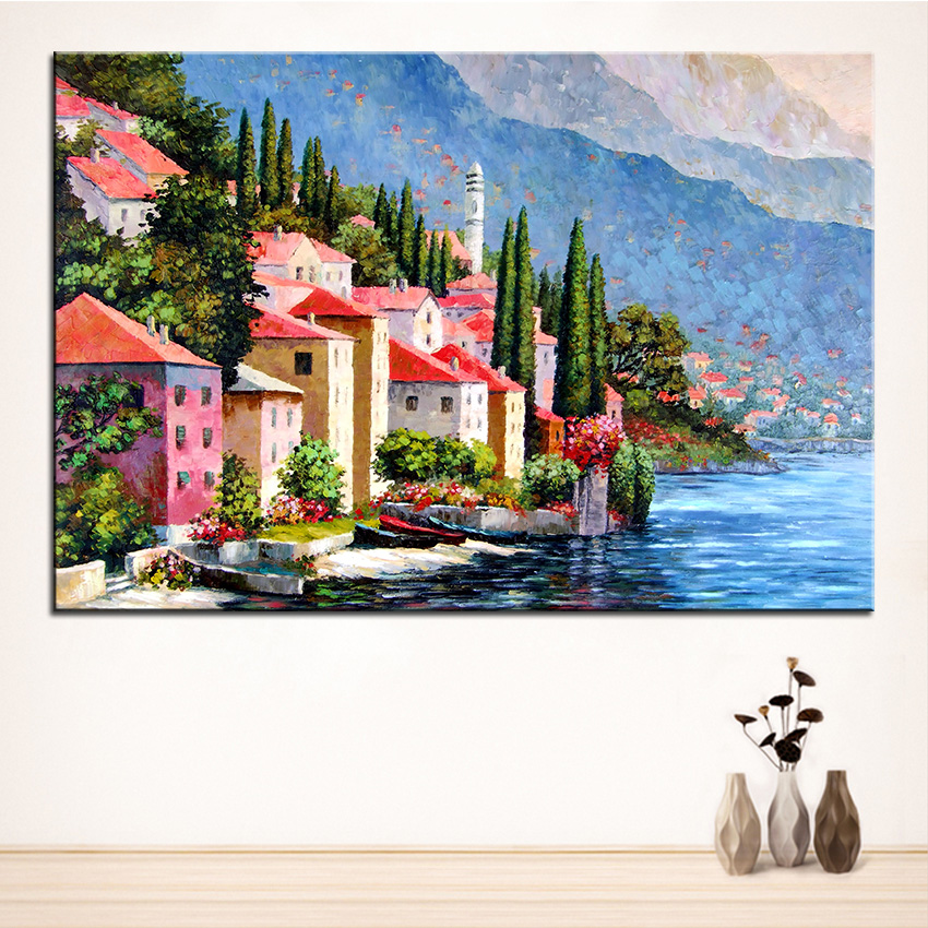 ᗚextra large wall painting of landscape home office decoration