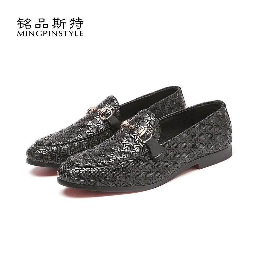 Mingpinstyle Men shoes Doug Shoes Casual Fashion Dress Shoes Male Spring Autumn Slip On Leather Men Dress Shoes