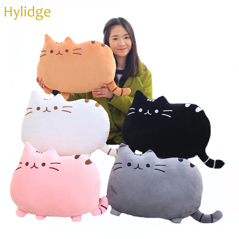 Hylidge 40CM Big Face Cat Plush Toy for Baby Room Decor Cat Toy Girl Boy Sleeping Pillow Brithday Gifts Lazy Cat Plush Doll Toys