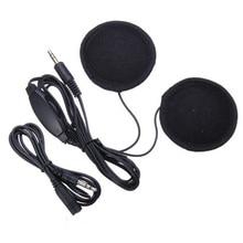 New Motorcycle Bike Scooter Helmet Sports Stereo Headphones Headset For MP3 Phone Black