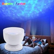 Kleurrijke Sea Wave Oceaan Projector Led Nachtlampje Aurora Master Muziekspeler Project Verlichting Lamp Kids Slaapkamer Batterij Lamp
