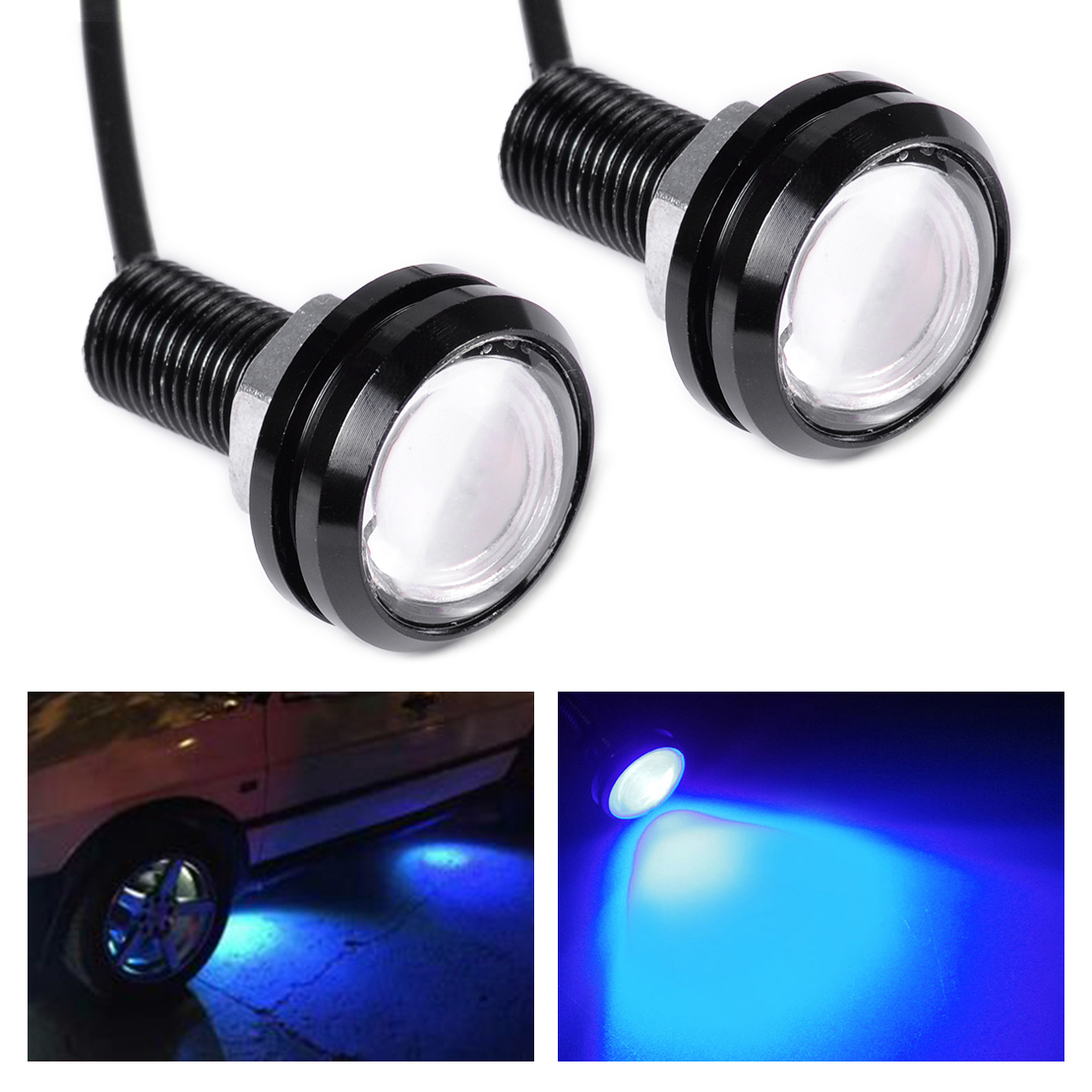 Car Light Assembly Leadtops 2pcs Car Led Drl 23mm Eagle Eye Daytime Running Light Car Lamps 12v External Styling Automobiles & Motorcycles Light Motorcycle Light Bj