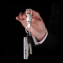 TANK007 ES12 CREE R3 120lumen 3-modes aaa stainless flashlight Steel Pocket LED Light Lamp Durable mini keychain