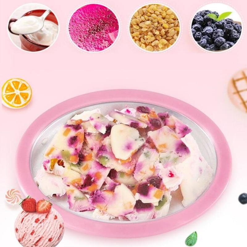 Fried Yogurt Ice Cream Machine Frozen Fruit Yogurt Fried Machine DIY Ice Cream Maker Household High Quality Fried Ice Machine