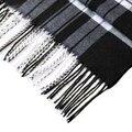 IMC Clássico Black & White Stripe Imprimir Tassel Decorado Cachecol dos homens