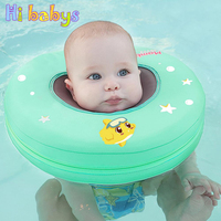 Baby Swimming Neck Float Ring Infant Non Need Pump Air Swim Trainer Circle Baby Swimming Pool Accessories Summer Water Play