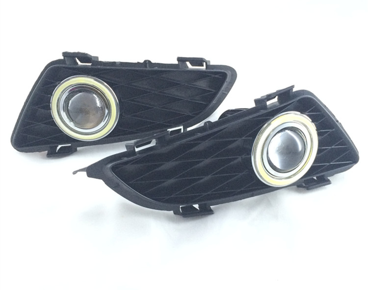 eOsuns COB angel eye led daytime running light DRL + Fog Light + Projector Lens for mazda 6 2004-05 leadtops car led lens fog light eye refit fish fog lamp hawk eagle eye daytime running lights 12v automobile for audi ae
