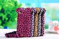 Cute 3D Cat Leopard Phone Case Coque Leopard Print Plush Tail Back Cover Fundas For IPhone