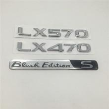 Auto 3d Adesivi Per Lexus LX470 LX570 Black Edition S Emblema Posteriore Della Parte Posteriore di Coda Script LX 470 570