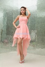 free shipping 2013 new design vestidos formale handmade brides maid custom After short before long pink Bridesmaid Dresses