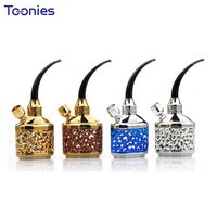 Random Color Smoking Pipe Shisha Accessories Dual Use Best Gits For Cigarette Lover Elegant Pattern Hollow
