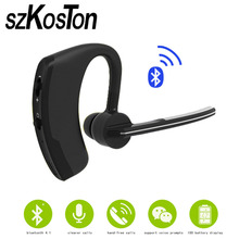 Business Bluetooth Earphone Wireless Handsfree Bluetooth V4.1 Headset With Microphone Headphone Voice For Iphone Sumsung Android earphone bluebay 4 1 wireless headset microphone aptx sport headphone for iphone 7 7s android phone bluetooth