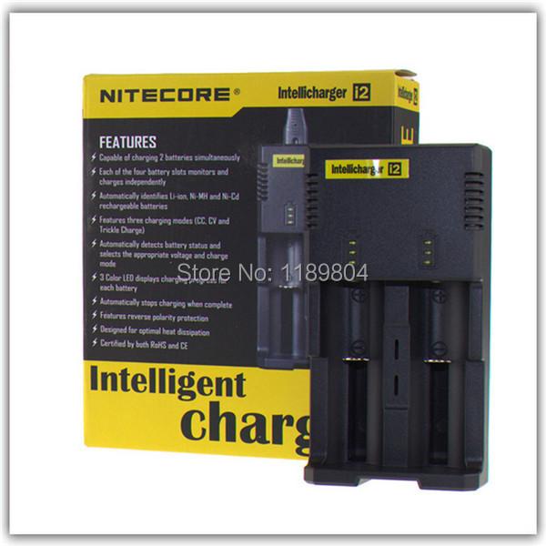5 pcs Original Nitecore I2 Intellicharge Carregador para 16340 18650 26650 Bateria de Multi Função Universal para e cigarro cigarros eletrônicos