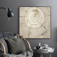 Nordic INS lonely annual ring abstract decorative paintings Simple and modern home Entrance Hanging pictures Wall painting