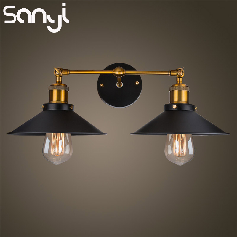SANYI Retro Wall Lamps Vintage Loft Lights Bedside Retro Industrial Home Deco Lighting Wall Lights Fixtures Luminaria