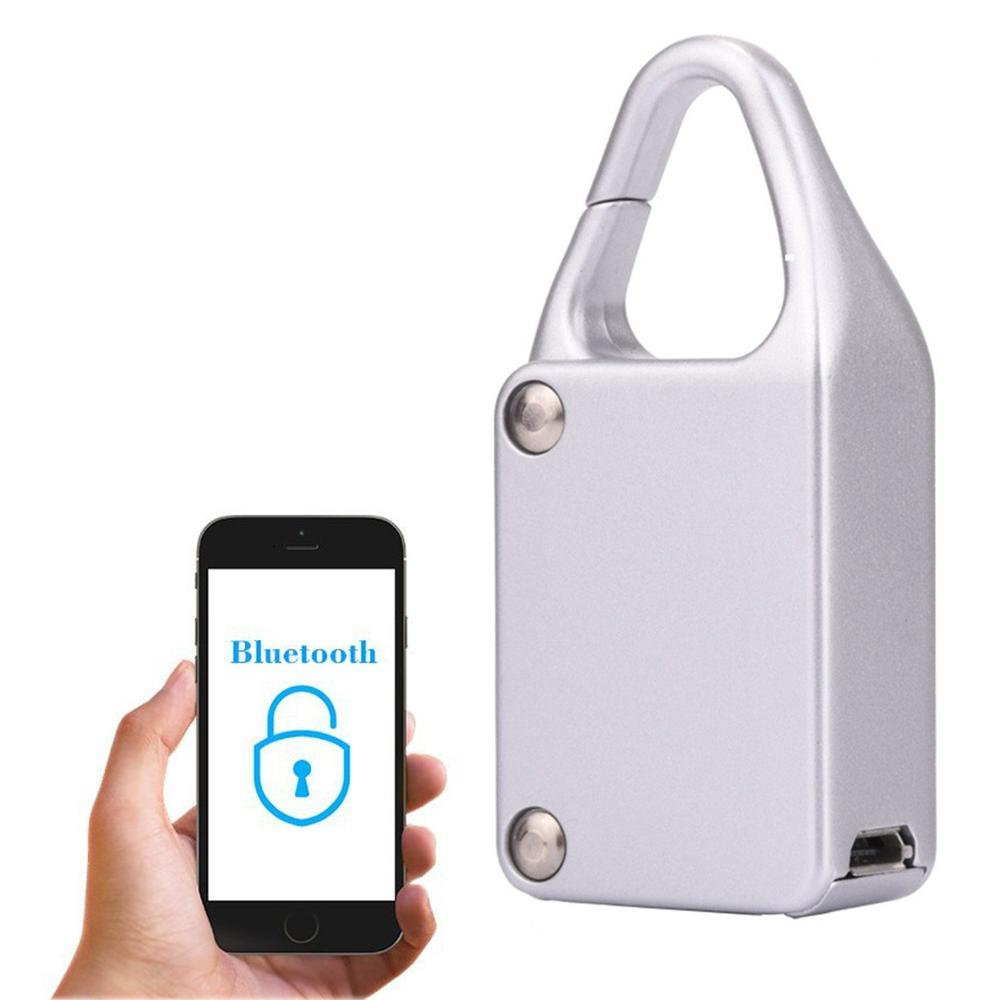 Smart Bluetooth Lock Waterproof Keyless Remote Control Locker Outdoor Anti Theft PadLock for Intelligent Phone Android/IOS APP 2016 orange manual and automatic bluetooth smart window lock bicycle lock luggage lock stainless steel padlock hot sale