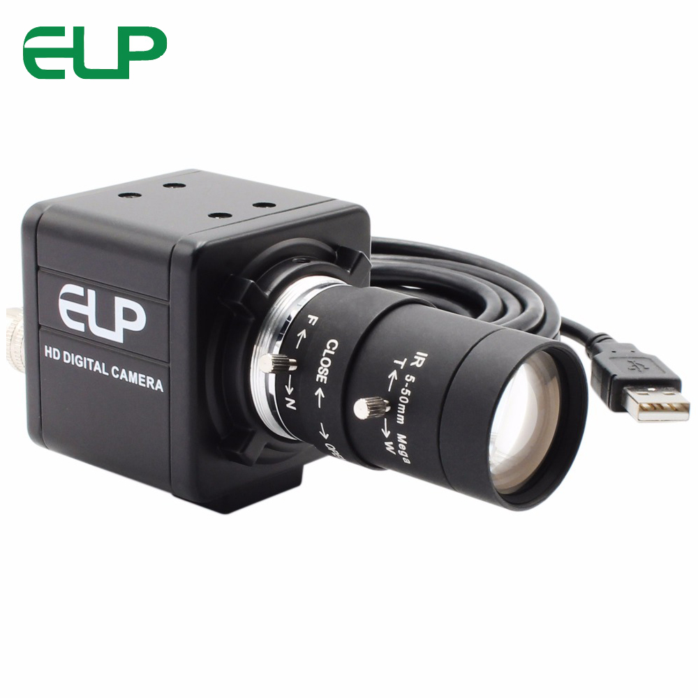 ELP High Speed MJPEG 1080P 60fps/ 720P 120fps/ 360P 260fps UVC OmniVision OV4689 CMOS USB Webcam Camera With Varifocal Lens-in Surveillance Cameras from Security & Protection    1