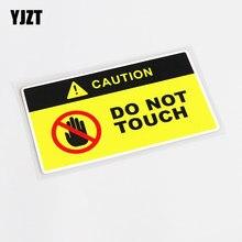Yjzt 13cm * 7cm cautela comical não toque decalque do carro adesivo decoração pvc 13-0751