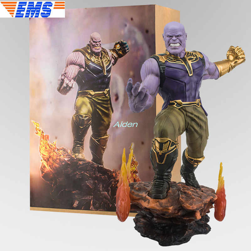 "25""Avengers: Endgame Statue Megamind Bust Thanos Full-Length Portrait Iron Man PVC Action Figure Collectible Model Toy 64CM B993"