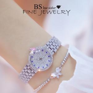 Image 4 - Kadın saatler ünlü lüks markalar elmas gümüş kadın kol saati küçük arama bayanlar bilek saatler Relogio Feminino 2020