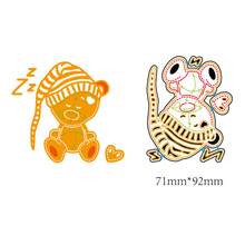 AZSG Bear Doll Cutting Dies For DIY Scrapbooking Card Making Decorative Metal Die Cutter Decoration