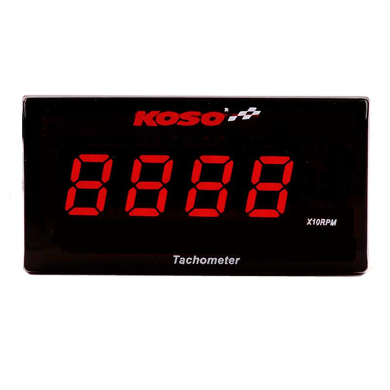 Tachometer Digital Koso Mini Square Display Gauge untuk Yamaha Nvx Nmax Buku 300 400 Cafe RACER Dio Motor Counter Rpm meter