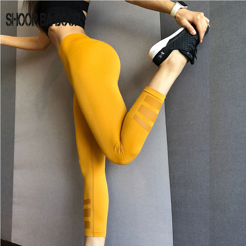 Shoopbadoop Yoga Leggings Sports Pants Running Tights Soild Tights Fitness Compression Pants Women Active Wear Gym Pants S-xl To Have A Unique National Style Yoga Traditional & Cultural Wear