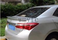 Car Accessories For Toyota Corolla 2014 2015 2016 2017 ABS Plastic Unpainted Primer Tail Trunk Lip Wing Rear Spoiler Decoration
