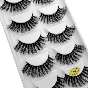 Image 5 - SHIDISHANGPIN 5 pairs mink lashes faux cils make up natural handmade mink eyelashes false eyelash extension makeup maquiagem
