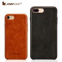 Leather Phone Case For IPhone 7 7 Plus Case Cover Jisomcase 100 Original Genuine Leather Slim