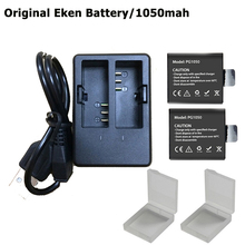2pcs action camera Battery with Dual Charger For Original EKEN H9 H9R H3 H3R H8PRO H8R H8 pro V8S sports camera