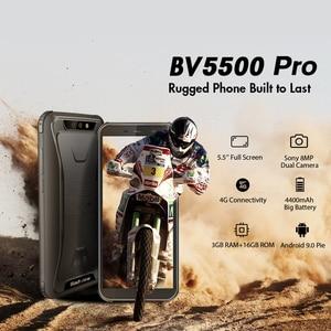 "Image 2 - Blackview BV5500 Pro Mobile IP68 Wasserdichte Smartphone 5,5 ""Screen 3GB RAM 16GB ROM Android 9.0 MT6739V Quad Core 1,5 GHz 4G OTG"