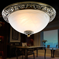 Antique Retro Bedroom Balcony Aisle Corridor Entrance Ceiling Lighs Iron frame glass shade Study E27 socket ceiling Lamp