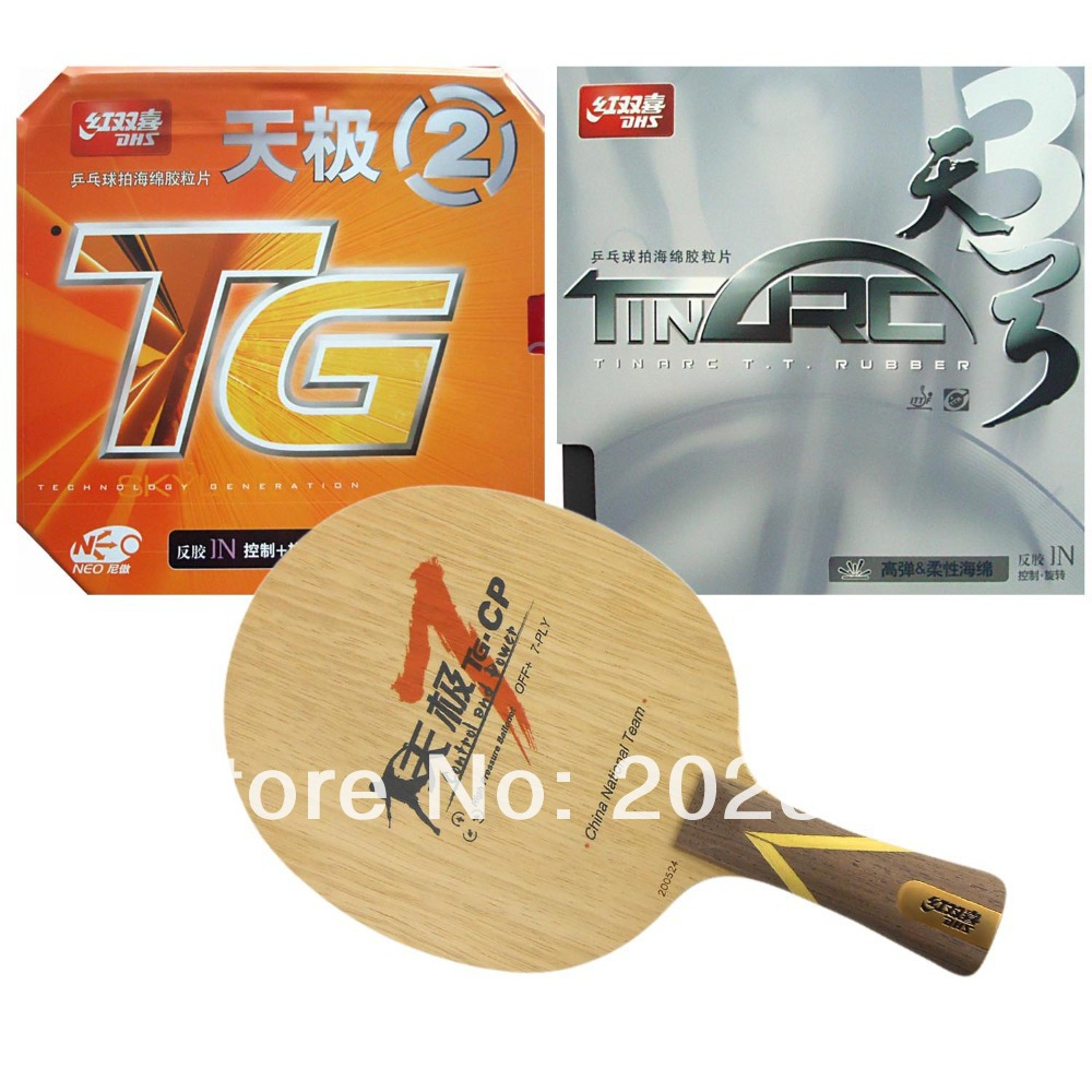 Pro Table Tennis PingPong Combo Racket DHS TG7.CP with TinArc3 NEO Skyline TG2 2015 The new listing Genuine Long Shakehand FL