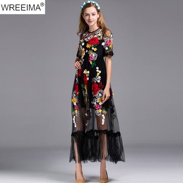 Ankle Length Dress with Sleeves