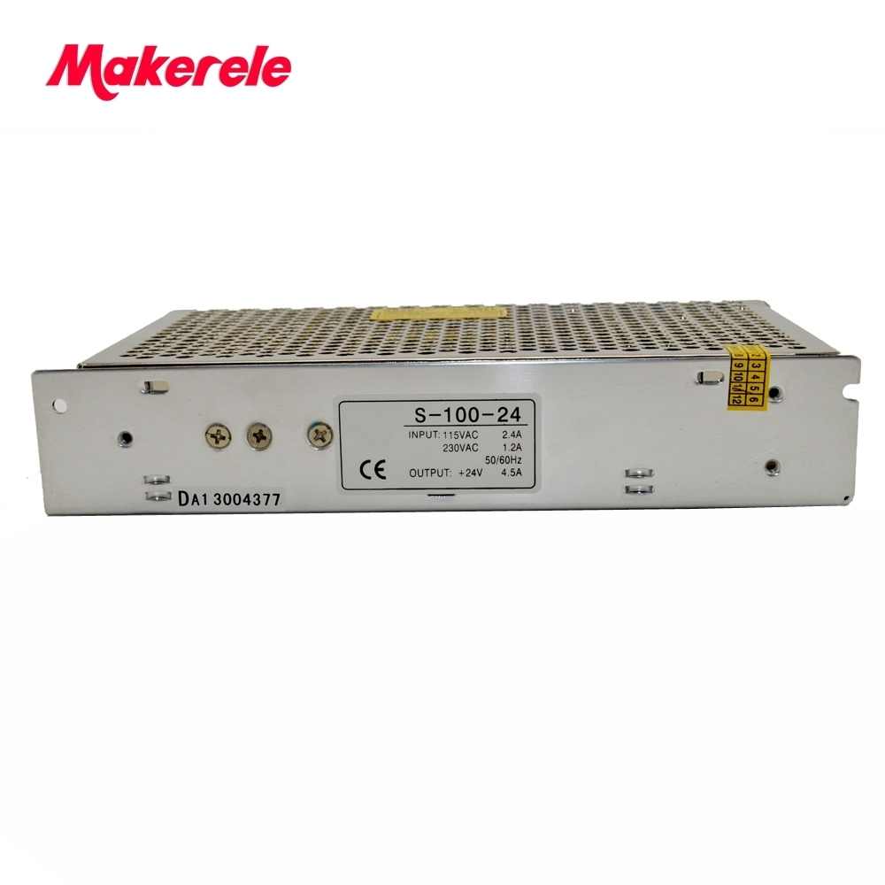 Single Output Switching power supply 100W 24..V 4.5..A ac to dc  converter  CE approved over-load protection high quality Single Output Switching power supply 100W 24..V 4.5..A ac to dc  converter  CE approved over-load protection high quality