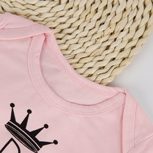 Funny Letter Print Newborn Infant Baby Girl Clothing