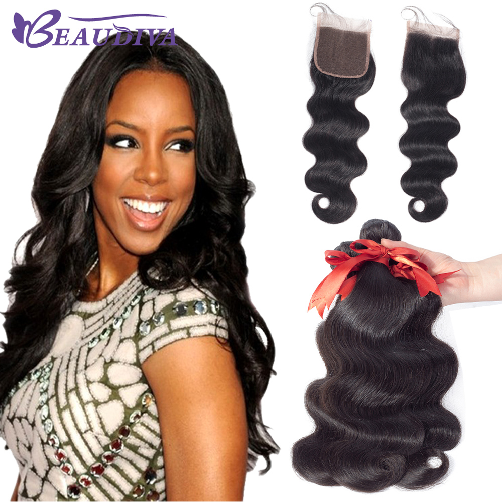 Beaudiva Brazilian Hair Weave Bundles Body Wave 4 Bundle Deals Human Hair Extension tissage cheveux humain