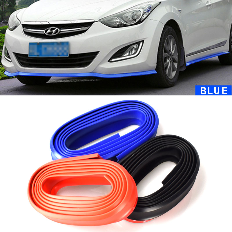 2.5MX60MM Auto DIY Universal Car-Styling Mouldings Lip Skirt Protector Car Front Lip Bumper Car Rubber Strip Width Car Styling