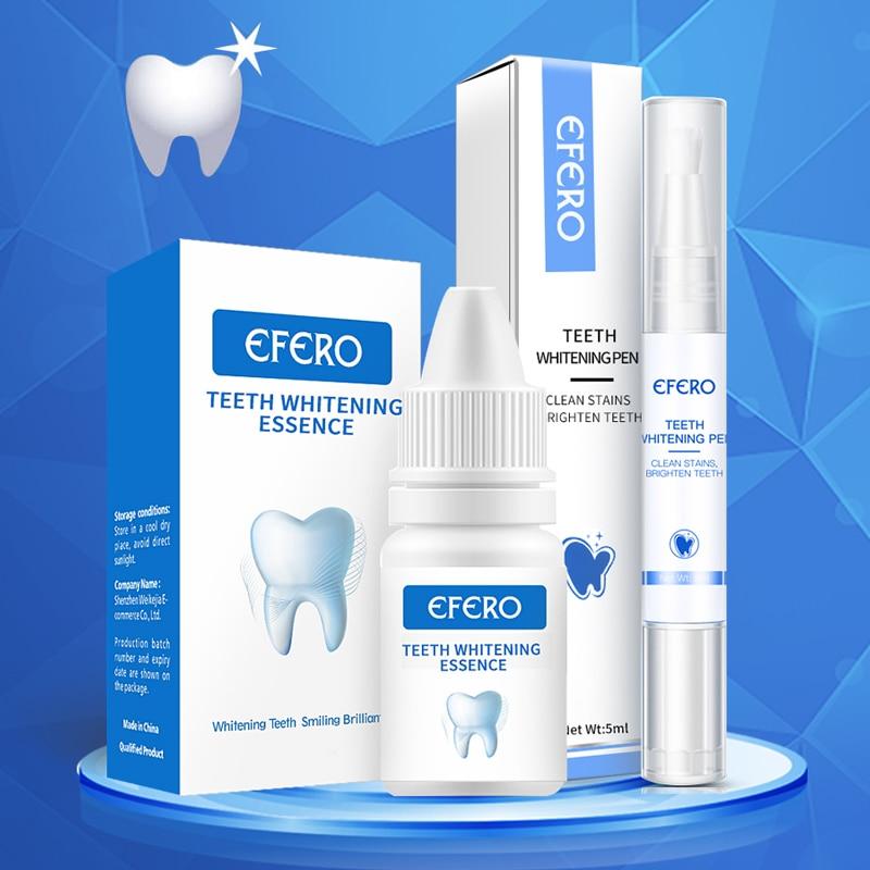 EFERO Teeth Whitening Essence Oral Hygiene Cleaning Serum Removes Plaque Stains Teeth Bleaching Dental Tools Teeth Whitening Pen