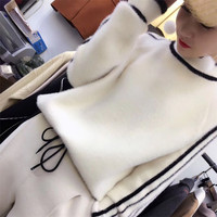 2018 Winter Imitation Mink Cashmere Sweater Women S Pullover Loose Knitted Sweater Thickening Lazy Style Sweater