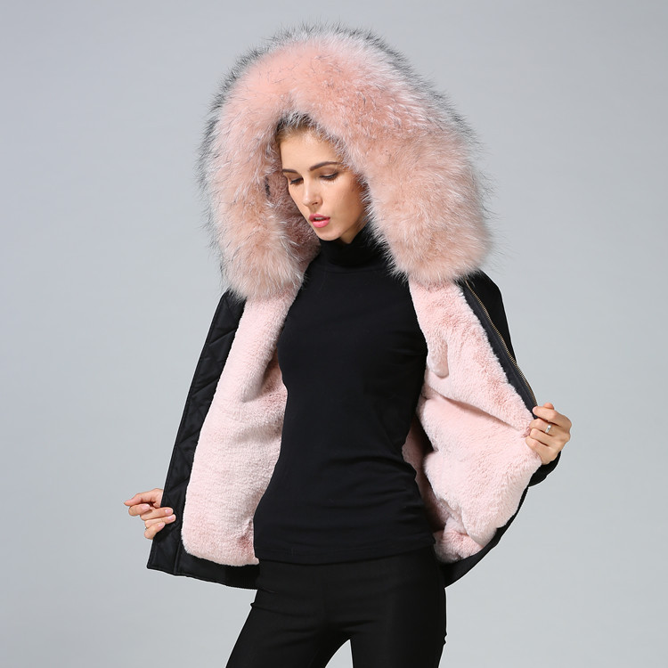 many choices of select for latest best selection of US $239.99 |couple clothes 2019 winter coat women parkas real natural  raccoon fur collar colored black waterproof bomber jacket-in Parkas from  Women's ...
