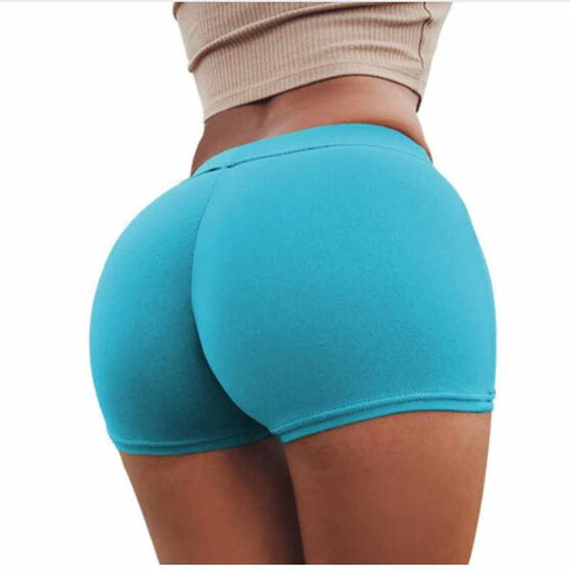 Push Up Summer Shorts Women Workout Casual Style Mini Shorts Sexy Feminino Cotton Candy Color Breathable Short Black beachshorts