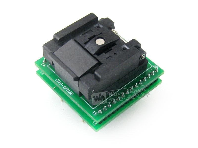 QFN28 TO DIP28 (C) QFN28 MLF28 MLP28 Plastronics QFN-28B-0.65-01 IC Test Socket Programming Adapter 0.65mm Pitch