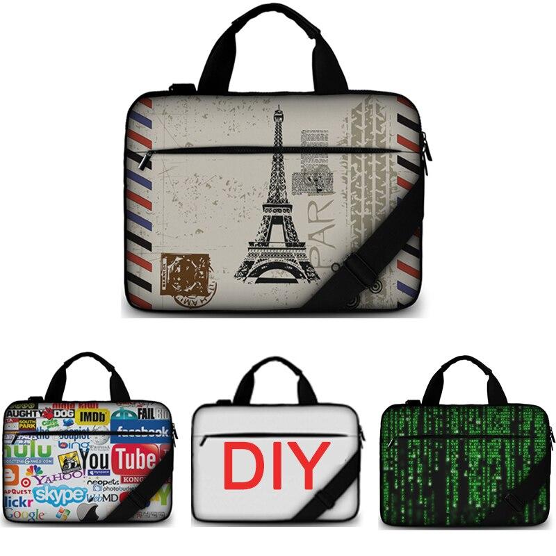 Personalizzazione spedizione gratuita soft cotton canvas laptop bag 15.6 custodia borsa donne messenger per macbook/hp/acer/lenovo ecc