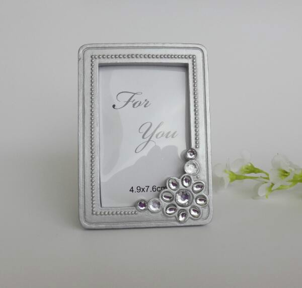 silver rhinestone small frame wholesale mini branch elegant place card holder photo framechina