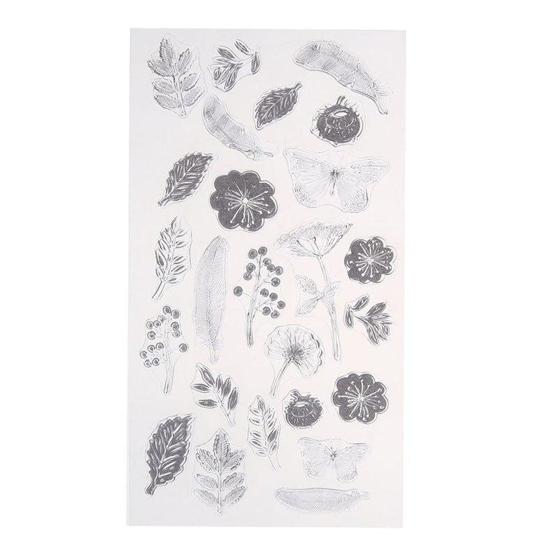 18 müxtəlif rəngli şəffaf şəffaf möhür DIY silikon möhür - İncəsənət, sənətkarlıq və tikiş - Fotoqrafiya 6